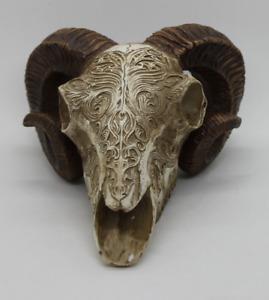 Scrimshaw Ram Schädel Alchemy England Gothic Tierschädel
