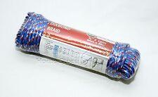 Strong 6mm X 30M  100FT Polypropylene Diamond Braid Multi Purpose Rope 303 BLUE