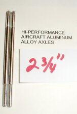 """(2) Hi-Per Aluminum Axles 5:40 thread Vintage 1960's Slot Car NOS  2 3/4"""" Long"""