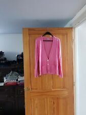 Wallis Ladies Pink Long Sleeve Cardigan with Pockets - Size 16