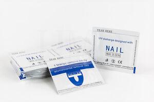 Nail Art Soak Off Nail Polish UV Gel Foil Remover Wraps, 50 Pads Remover Wipes