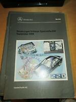 Mercedes Service W 220 - Neuerungen Sept. 1999 -  z.b  Motor  OM 613