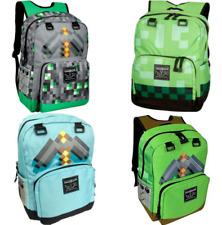 Minecraft School Backpack Creeper Rucksack Waterproof Boy Sports Storage Bag UK