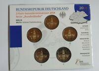 2 Euro Gedenkmünzenset BRD 2018 ADFGJ + BU + im Blister / Coincard