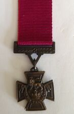 """Victoria Cross Miniature medal loose with 6"""" ribbon"""