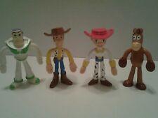 "Figurine 4 pcs/lot Toy Story Figure Buzz Lightyear Woody Jessie Bull 4""Bendable"