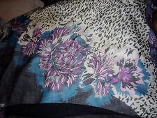 Emilio Pucci Pink Black Blue White Printed Wool Silk Blend Fringe Scarf Wrap