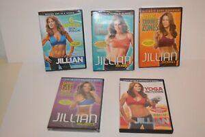 Lot of 5 Jillian Michaels Workout DVD -New Sealed