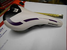 New Mongoose Bike Seat WHITE Purple BLACK Bicycle Saddle MTB Road Universal