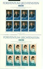 "EVENEMENTS - Crown Prince & Princesse LIECHTENSTEIN 1982 ""LIBA '82"" sheetlets"