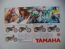 advertising Pubblicità 1974 MOTO YAMAHA RD 350/DT 360/TX 750/TX 500/TX 650