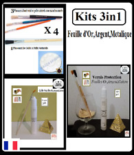 Kits 3in1 Feuille d'or,d'argent,Gold Sheets Paper