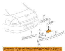 Chevrolet GM OEM Impala Front Bumper Grille-Emblem Badge Nameplate 22865905