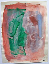 "ILIU JOSEPH (1914-1999).Composition, aquarelle.""Abstraction lyrique"". (1960-1990"