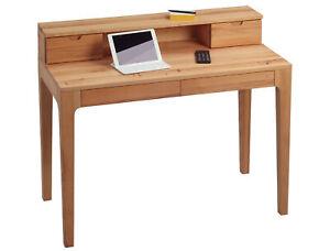 Massivholz Schreibtisch Bürotisch Computertisch Tisch Konsole OSKAR Kernbuche