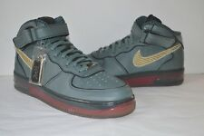 New Nike Air Force One 1 XXV Mid Supreme China 2007 World Love Olive/Red 12 RARE