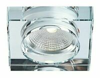 Modern Chunky Square Clear Crystal Dimmable Led Ceiling Downlighter 5w NEW