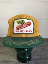 Work Snapback Hat K Products Vtg 80s King Bros. Farm Trucker Mesh USA Mint.
