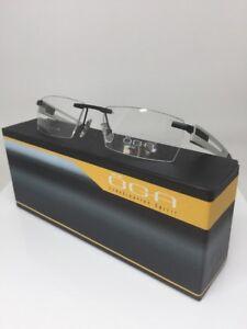 New OGA M. 68920 Rimless Eyeglasses C. NG080 Matte Black Silver Size 54mm France