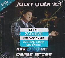 2 CD's + 1 DVD OJO Juan Gabriel NEW Mis 40 En Bellas Artes 2 LUJO FAST SHIPPING