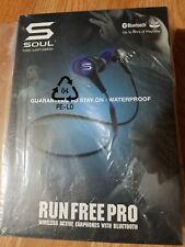 Soul Electronics Run Free Pro Wireless Earphones Bluetooth (Electric Blue)