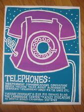 vtg 1970s Nikki Schumann Telephone Silkscreen retro rotary phone art deco print