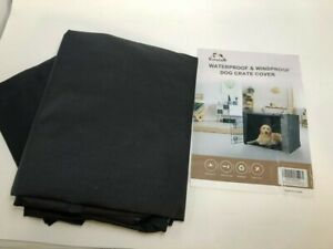 Yotache Dog Crate Cover for 42 Inches Double Door Wire Dog Cage, BLACK