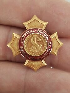 St. Luke's Hospital School Of Nursing Gold Filled Enamel Pin