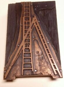 VINTAGE PRINTING LETTERPRESS PRINTERS BLOCK LADDER MICHIGAN COPPER YPSILANTI 1