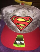 DC Comics Superman Youth Hat One Size Fits Most Baseball SnapBack Cap