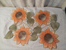 Set of 8 sunflower place mats home decor dinning