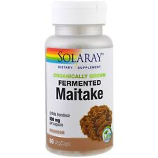 SOLARAY Fermented Maitake Mushroom - 500 mg - 60 VegCaps - Organic - Non-GMO
