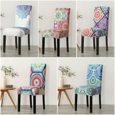 Bohemia Stretch Banquet Chair Covers Seat Slipcovers Dining Home Office Decor