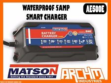 MATSON AE500E - WATERPROOF 5 AMP SMART CHARGER - BATTERY CHARGER VOLTAGE