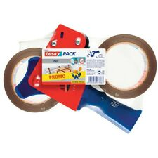 tesapack® Packbandabroller blau/rot + 2 Rollen Packband 57108 braun