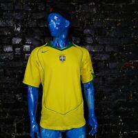 Brazil Team Jersey Home football shirt 2004 - 2006 Nike Trikot Mens Size L