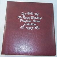 42 Pages THE ROYAL WEDDING PHILATELIC PANELS COLLECTION CHARLES & DIANA STAMPS