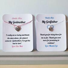 PERSONALISED Thank You Godparent, Godfather, Godmother Card, Keepsake,Gift