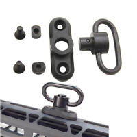 Black Tactical M-LOK Style Attachment Quick Detach QD Sling Swivel Mount