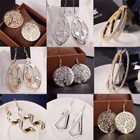 Elegant Women Lady Hook Long Earrings Metal Ear Stud Dangle Hoops Jewelry Gifts