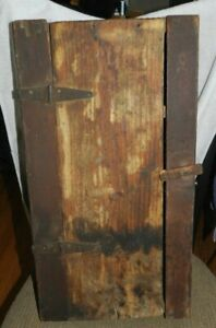 "Antique Medicine Cabinet Wood Chest Surface Wall Mount  23"" x 12.5""x 4.75"""
