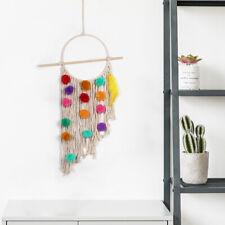 Boho Macrame Wall Hanging Tapestry Art Handmade Bohemian Cotton Tapestry Decor