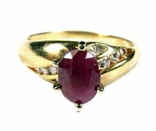 WOMEN 1.80CT Ruby VS Diamond SOLITAIRE Engagement Ring 14K Yellow Gold ViDeO