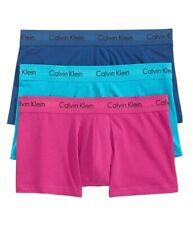 Calvin Klein Men's Cotton Stretch Classic Fit Low-Rise Trunks 3-Pack - XL -Multi