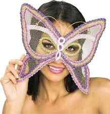 Butterfly Mesh Mask Pixie Fairy Sequin Eye Carnival Halloween Costume Accessory