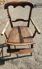 More details for antique wooden baby high chair seat