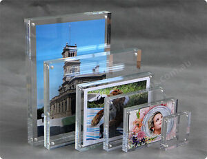 """8""""x10""""  Premium Magnetic Clear Acrylic Photo Frame / Perspex Picture Sign Holder"""