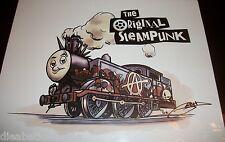 Thomas the Tank Engine Train Steam Punk art screen print rare