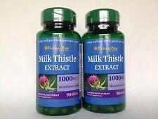 2 Puritan's Pride Milk Thistle 4:1 Extract 1000 mg (Silymarin) Made In USA