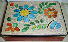 CARRS OF ENGLAND BISCUIT TIN C1940'S FLOWER TIN